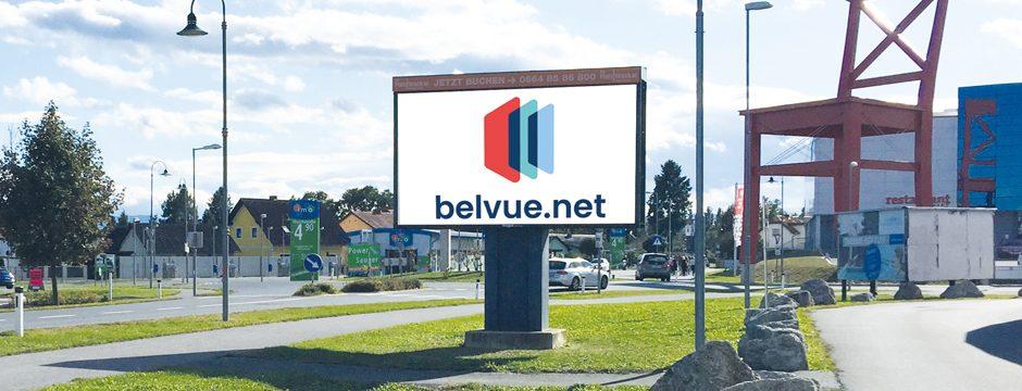 LED Videowall Werbung DOOH Kampagnen Leibnitz, Steiermark, Österreich bei belvue.net Videowall Netzwerk
