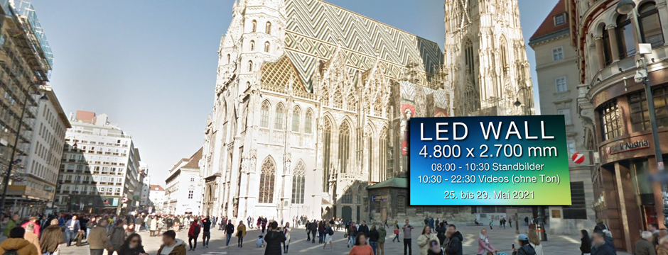 Videowall Werbung Digital Out of Home Außenwerbung Wien Stephansplatz
