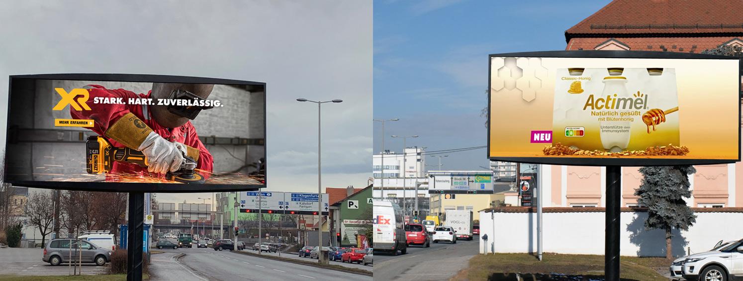 LED Videowall Werbung DOOH Außenwerbung digital Graz Steiermark